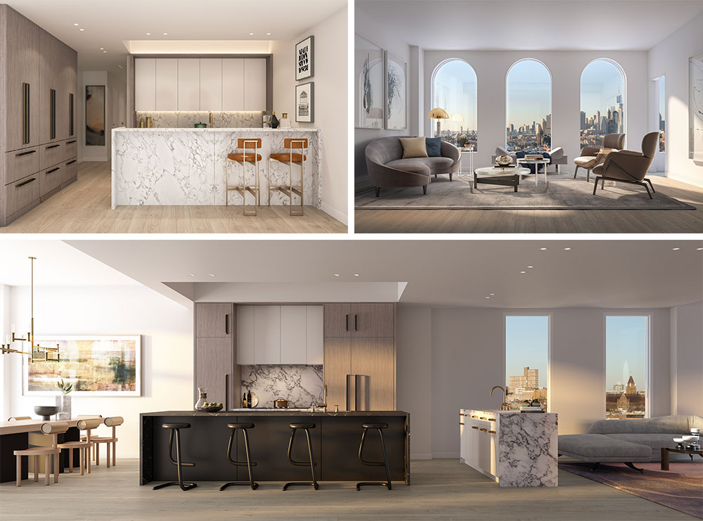 Rendering of Residential Interiors at 243 Fourth Ave (Photo: Binyan Studios)
