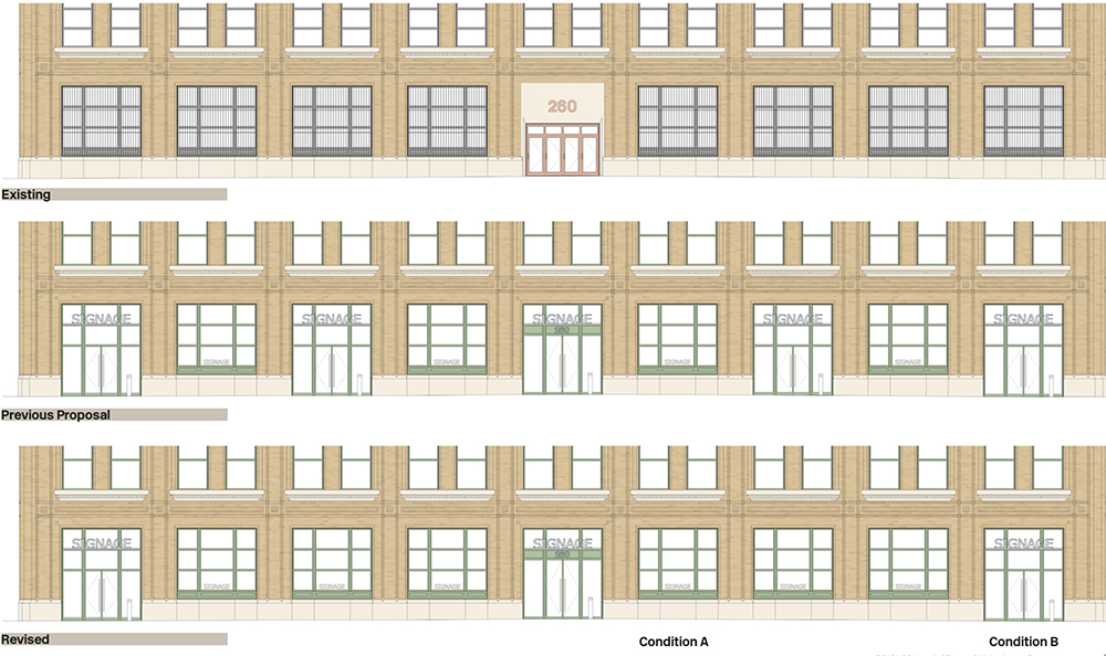 Proposed alterations to ground floor retail areas - Rogers Stirk Harbours + Partners