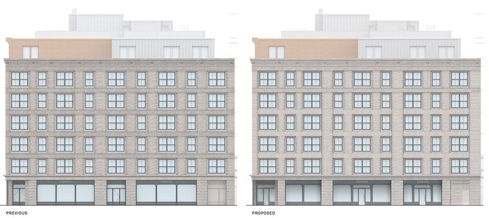 Elevation drawings of 38 West 8th Street - Morris Adjmi Architects