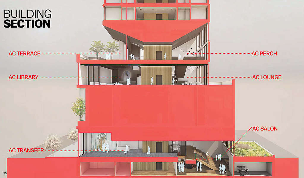 Preliminary rendering of AC NoMad Hotel - Danny Foster & Architecture