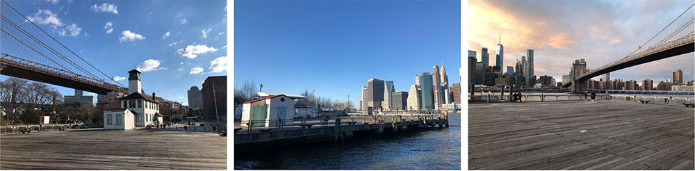 Photo of existing conditions at the Fulton Ferry Landing Pier - Starling Architecture