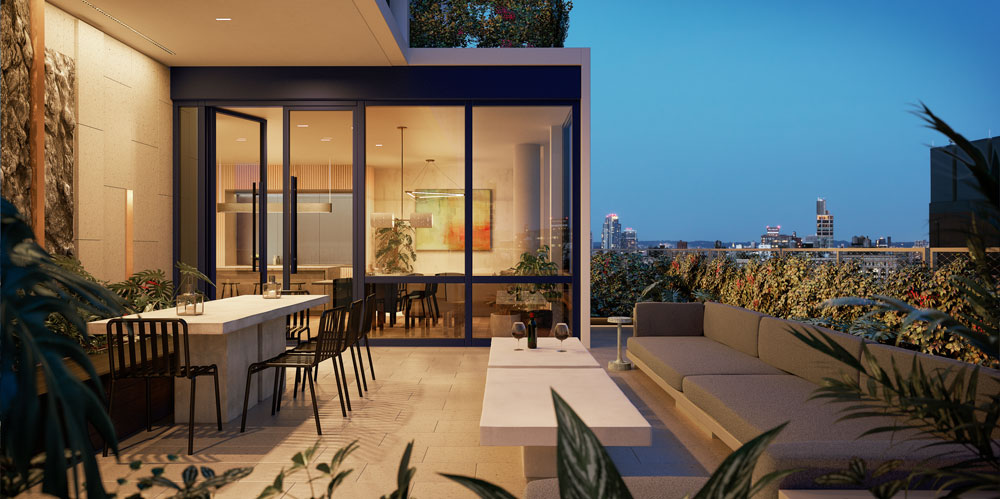 Rendering of Sky Lounge at 77 Charlton - S9 Architecture & Engineering