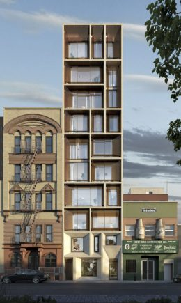 Rendering of 165 Chrystie Street designed by ODA Architects