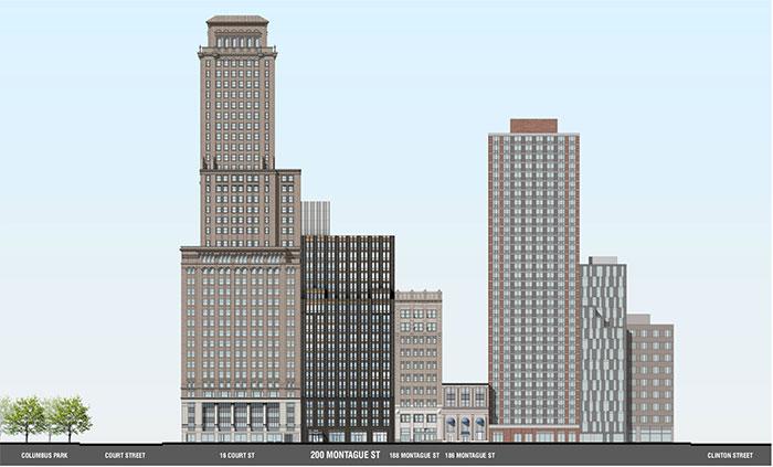 Updated rendering of 200 Montague Street - Beyer Blinder Belle