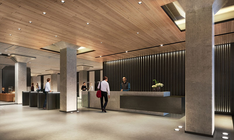 368 Ninth Avenue Lobby Rendering - Nuveen Real Estate