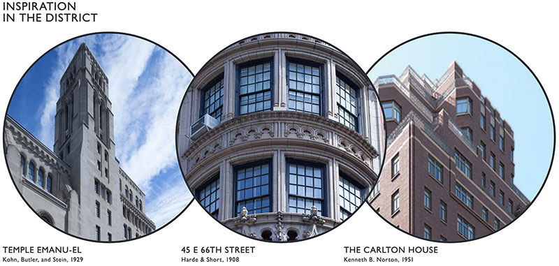 Inspiration for facade alterations at 760 Madison Avenue - COOKFOX Architects