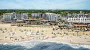 Aerial rendering of The Lofts Pier Village in Long Branch, New Jersey