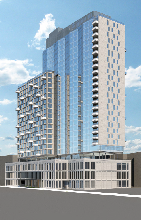 Rendering of 123 Linden Boulevard. Courtesy of Moinian Group