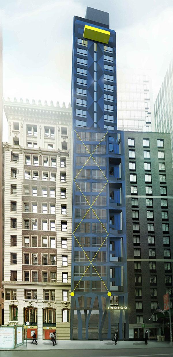 Rendering of 120 Water Street - Gene Kaufman Architects