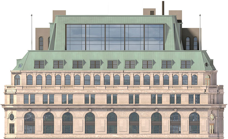 Proposed South elevation at One Broadway - Gensler