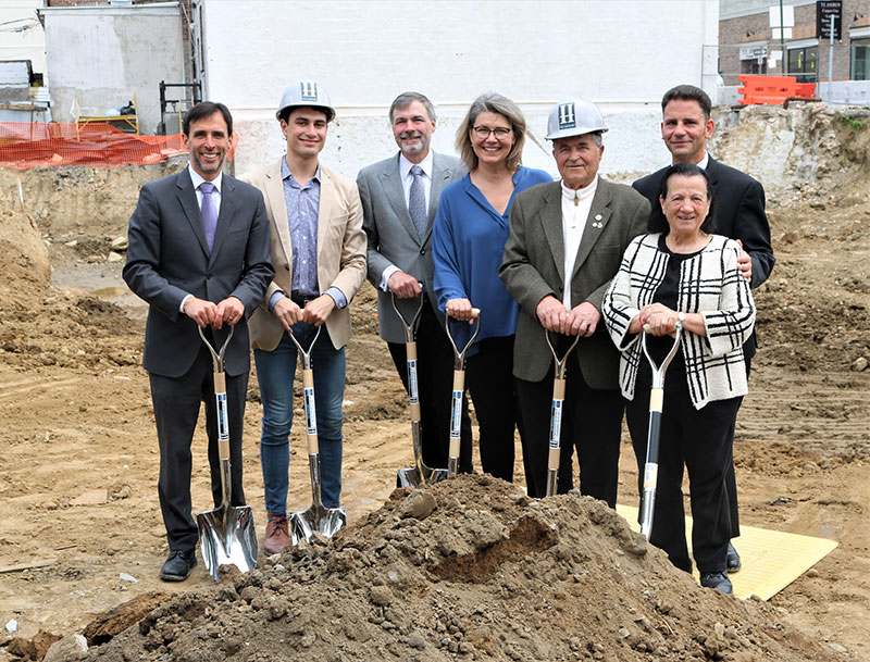 CAC Realty Group joined New Rochelle Mayor Noam Bramson, Commissioner of Development Luiz Aragon, and other City Officials for a groundbreaking ceremony at The Huguenot