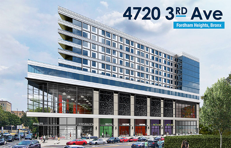 Rendering of 4720 3rd Avenue in The Bronx - Marin Architects
