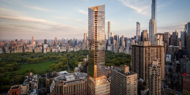 Rendering of 50 West 66th Street - Snøhetta