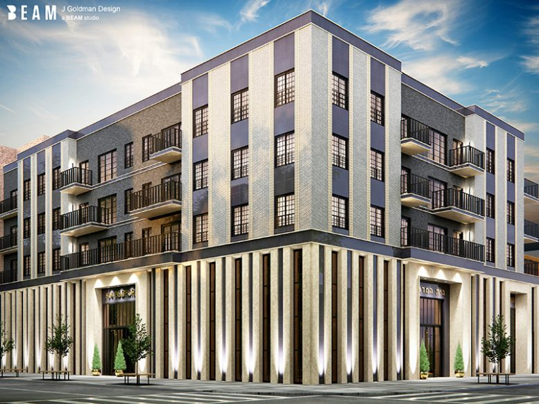 Rendering of 815 Bedford Ave - Karl Fisher Architect