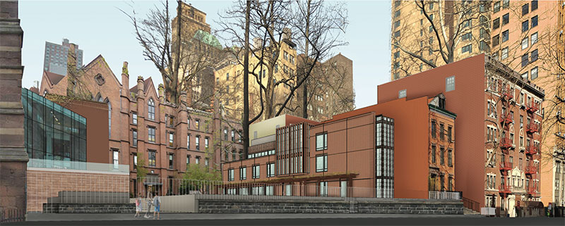 Rendering of Expanded Areas from Livingston Street - The Packer Institute