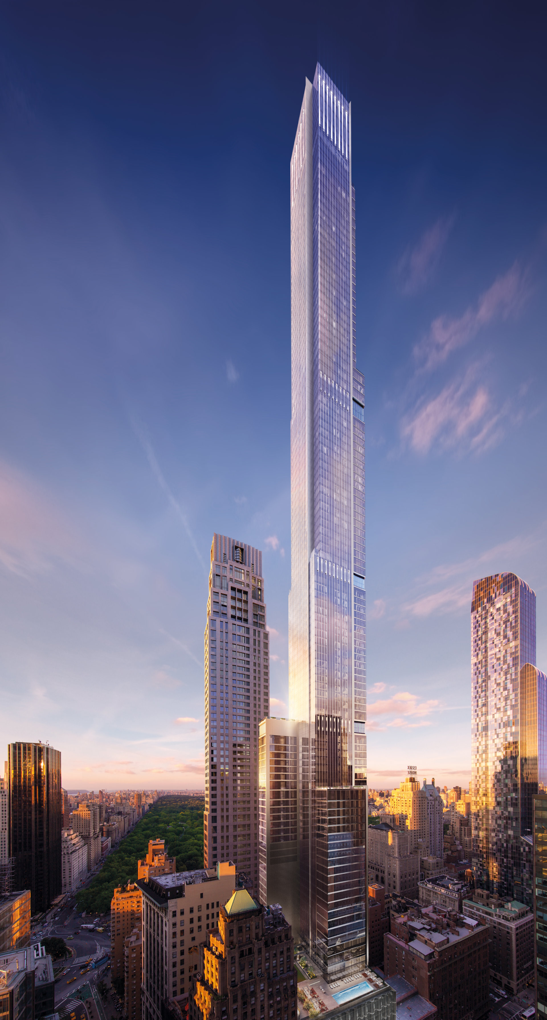 Extell's Central Park Tower Approaches Topping Out, in ...