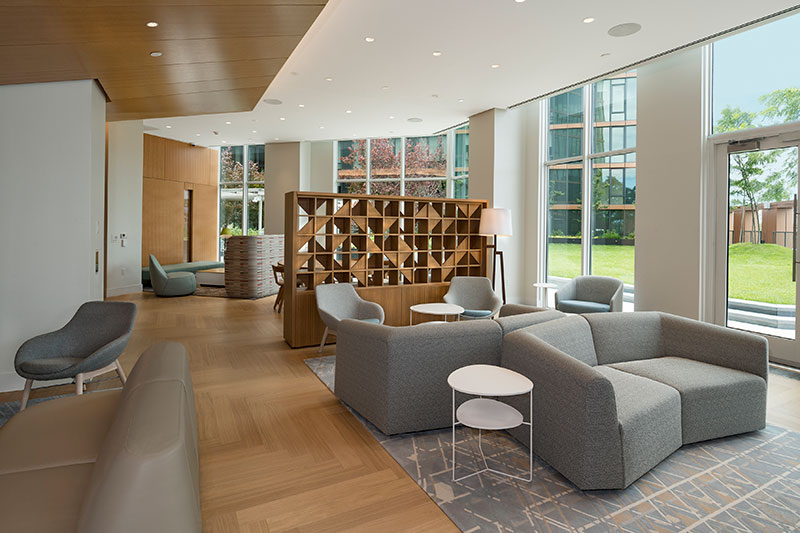 Residential lounge area - The Durst Organization