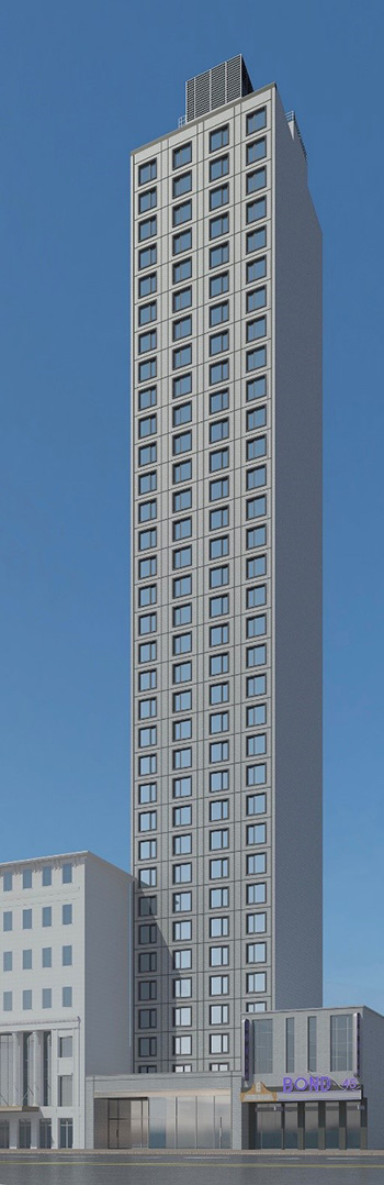 Rendering of 223 West 46th Street - Gene Kaufman Architect