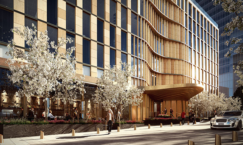 35 Hudson Yards Exterior Front Entrance (Rendering Courtesy of Related Companies)