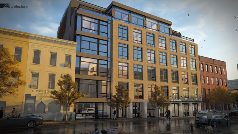 Rendering of 420 Gates Avenue - Z Architecture
