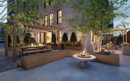 Courtyard Area of Astoria Lights