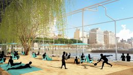 Rendering of Beach in the Gansevoort Peninsula at Hudson River Park