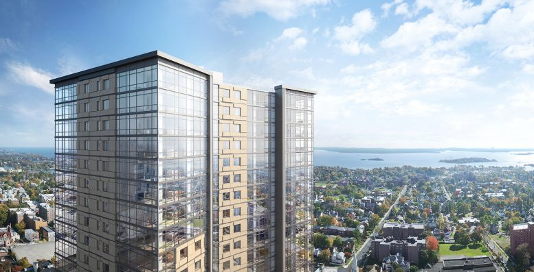 Rendering of 360 Huguenot via RXR Realty