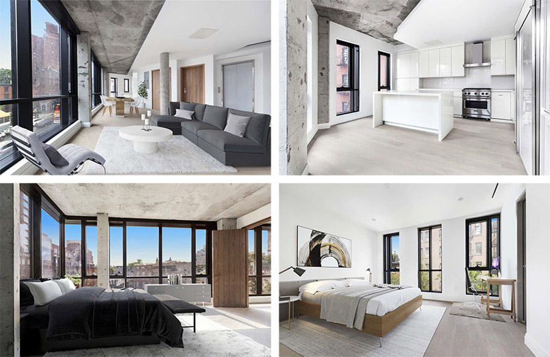 Residential interiors at 200 West 11th Street - The Jackson Group