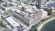 Aerial rendering of 30-77 Vernon Avenue - Fogarty Finger