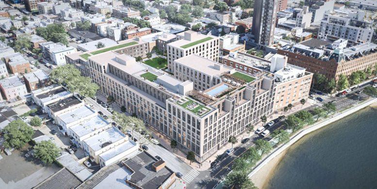 Aerial rendering of 30-77 Vernon Avenue - Fogarty Finger