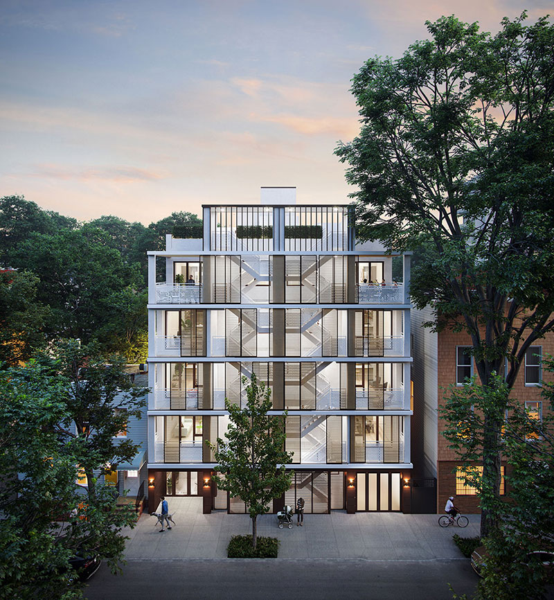 Rendering of 33 Frost Street - Mortar Architecture + Development