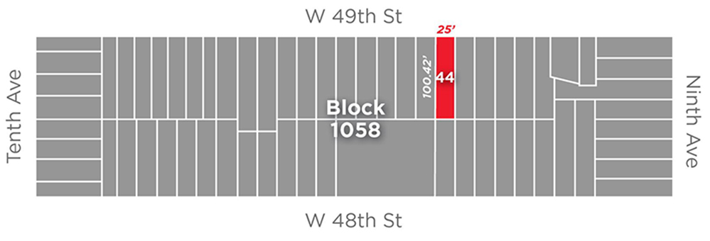 Site Map for 422 West 49th Street (Cushman & Wakefield Inc.)