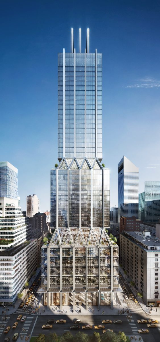 425 Park Avenue. Rendering by Dbox, courtesy of Foster + Partners