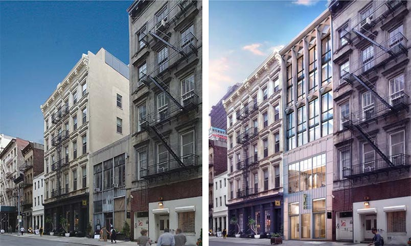 Existing and proposed conditions at 85 Franklin Street - studio MDA