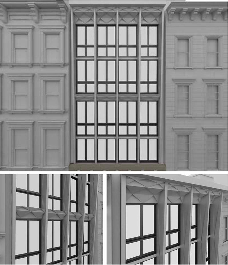 Facade alterations at 85 Franklin Street - studio MDA
