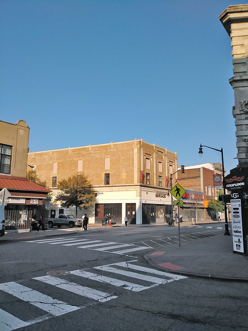 Existing view of 163-165 Newark Avenue - LWDMR Architects