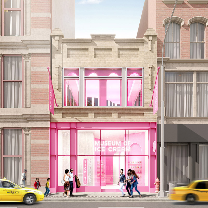 Rendering of The Museum of Ice Cream's new flagship location (Credit: The Museum of Ice Cream)