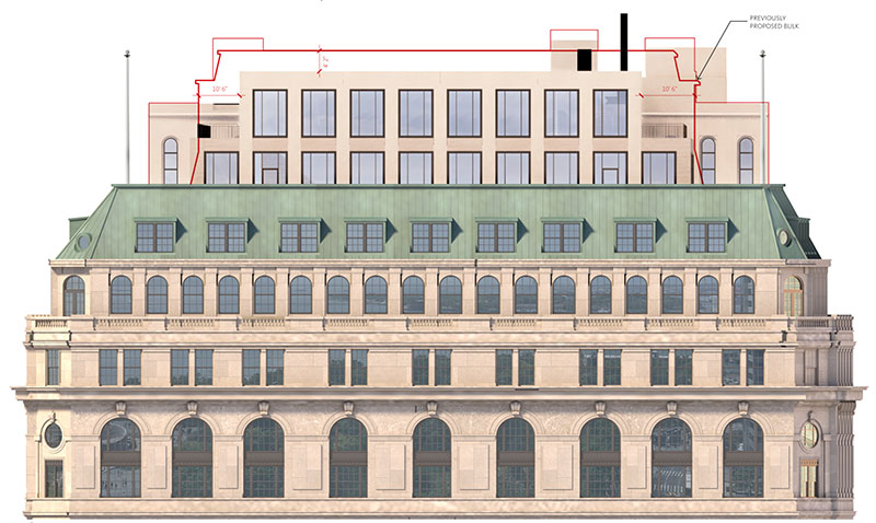 Elevation Diagram of One Broadway - Gensler