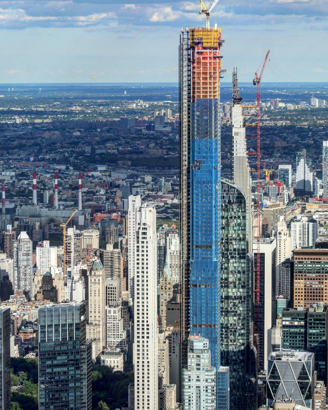 Central Park New York: Central Park Tower Officially Tops Out 1,550 Feet Above