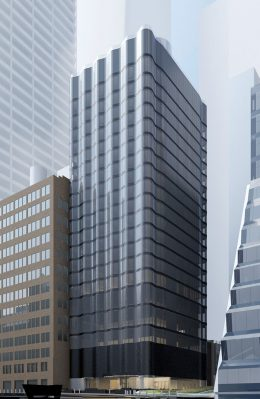 Rendering of Pendry Manhattan West Hotel - Skidmore Owings & Merril