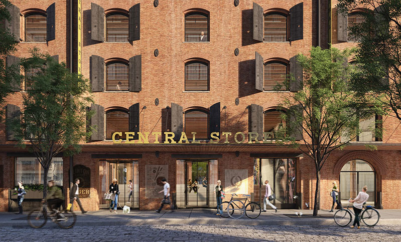 Rendering of the new terminal Warehouse in Chelsea, Manhattan (COOKFOX)
