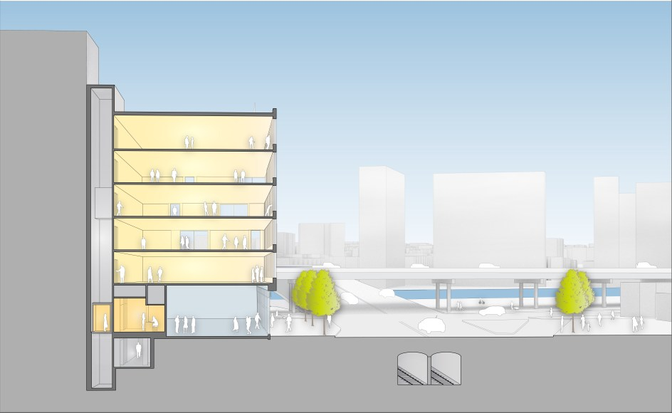 Rendering of 110 East 149th Street (Dattner Architects)