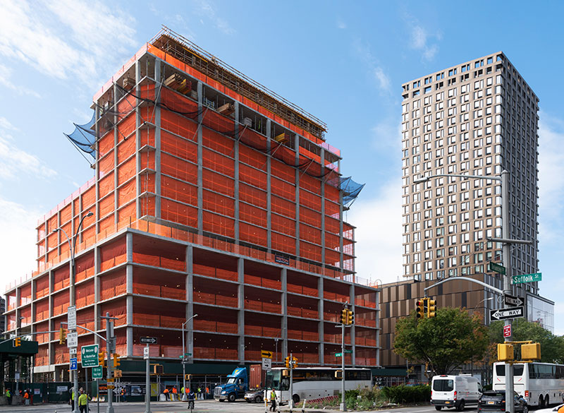 Construction progess at 2020 Broome Street (Credit: QuallsBenson)