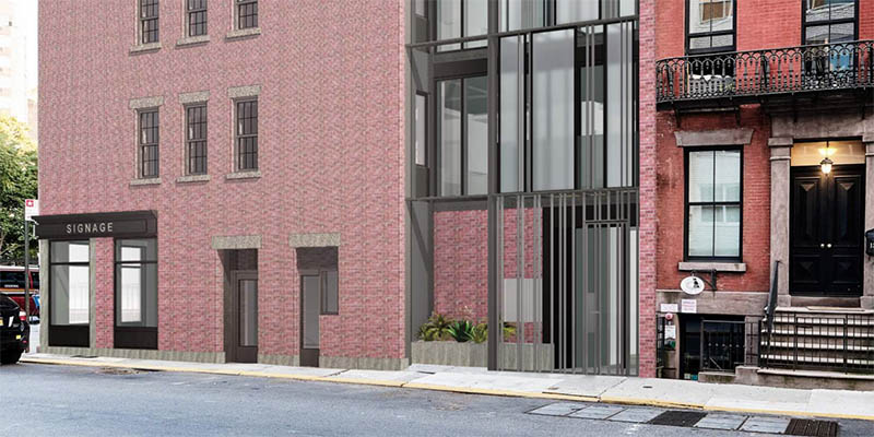 Rendering of ground floor at 21 Greenwich Avenue - BKSK Architects