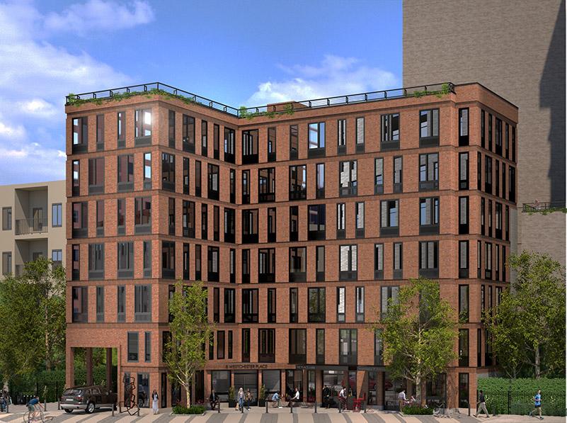 Rendering of 8 Westchester Place - Richard Bienenfeld Architect