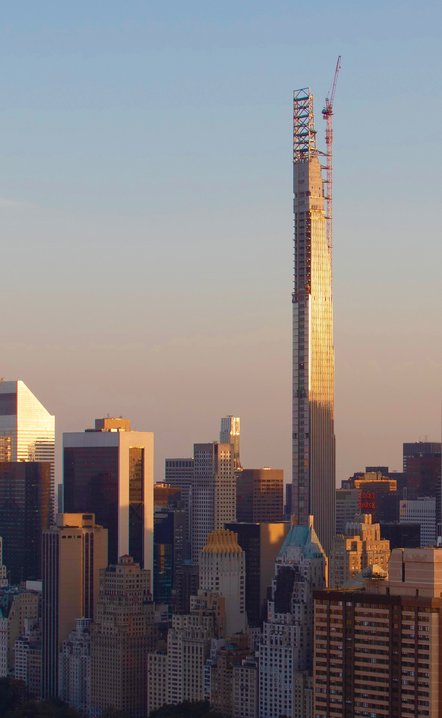 111 West 57th Streets Crowning Steel Officially Reaches