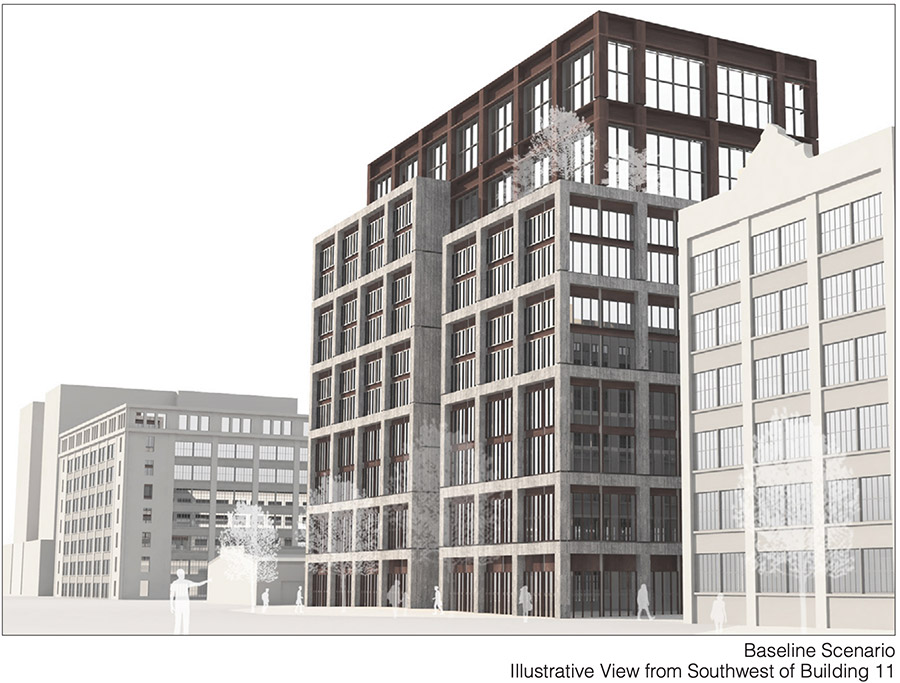 Rendering of Building 11 Within the Industry City Expansion - S9 Architecture