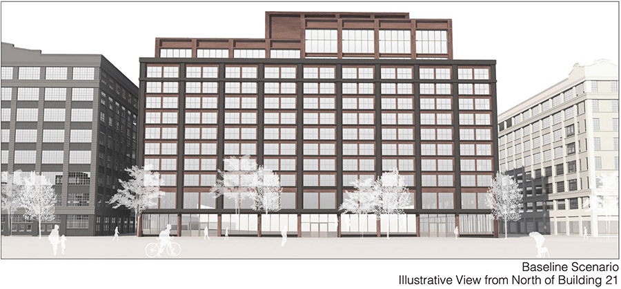 Rendering of Building 21 Within the Industry City Expansion - S9 Architecture