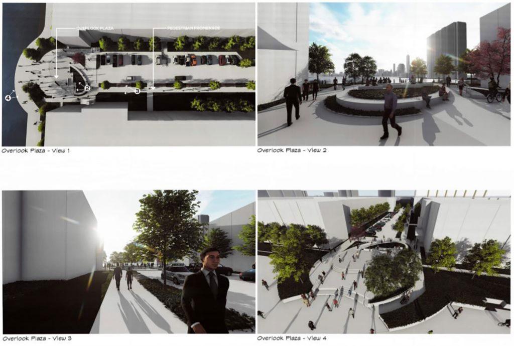 Rendering of Overlook Plaza via Melillo + Bauer Associates