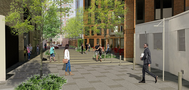 Proposed Plaza at Westchester Place - Richard Bienenfeld Architect